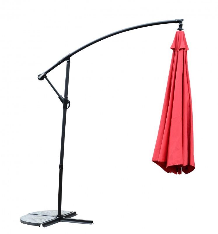 Sonnenschirm mit LED, 350 cm, rot