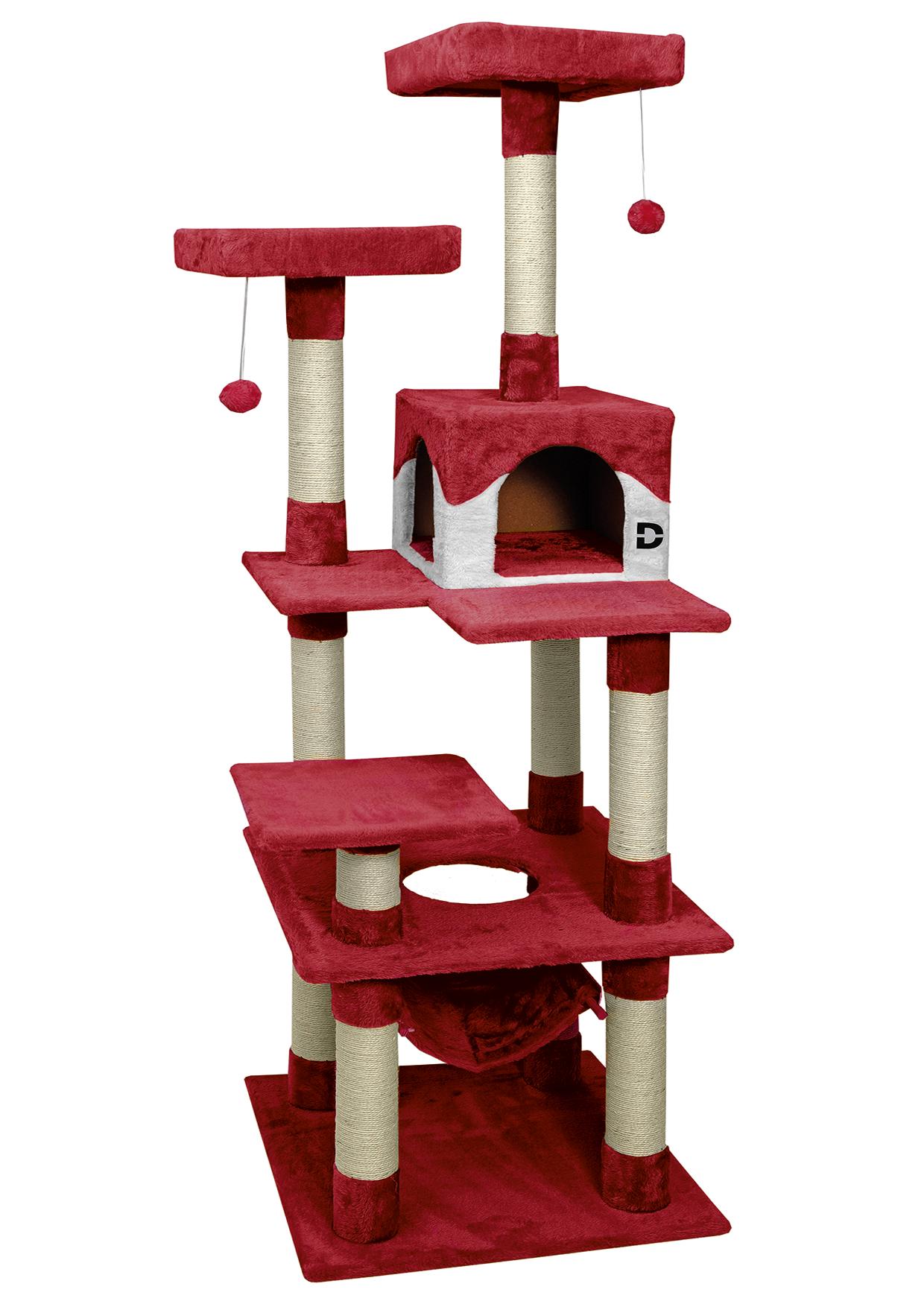 NEU: Kratzbaum Deluxe rot
